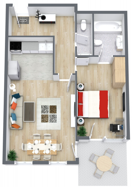 One of a kind - apartament 2 camere Triana Residence Pipera